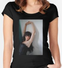 Black Corset 6 Women's Fitted Scoop T-Shirt