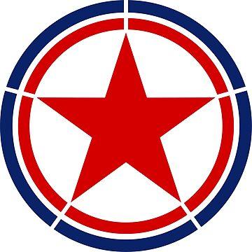 North Korea country roundel by tony4urban