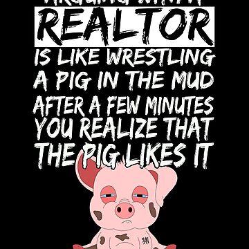 Real Estate Agent Realtor Pig Piglets by Basti09