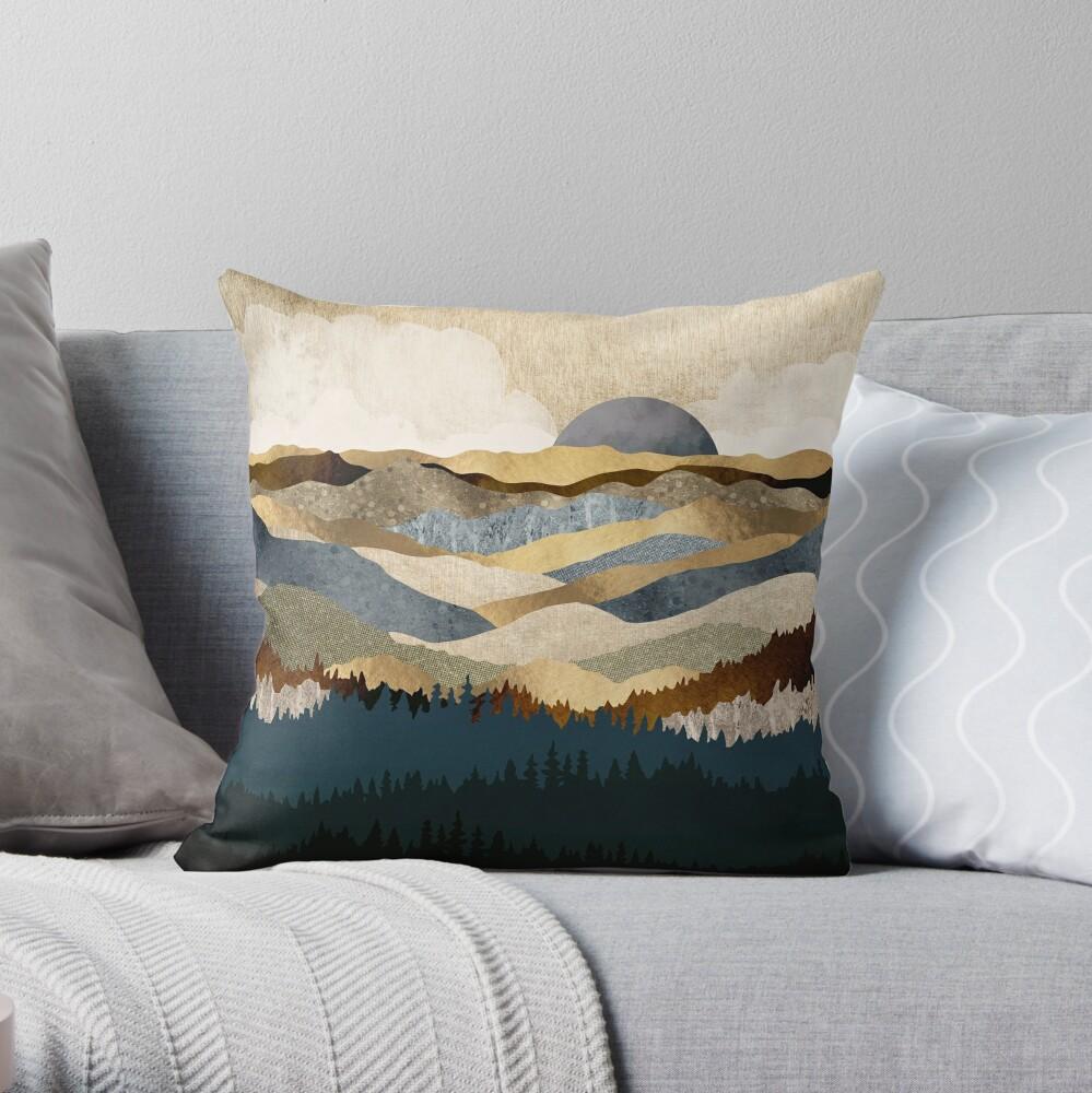 Golden Vista Throw Pillow