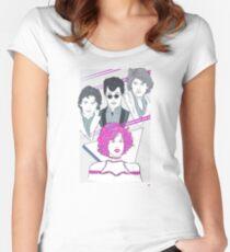 Schön in pink Tailliertes Rundhals-Shirt