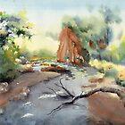 River landscape Bendungan Kayangan by Dianaonpaper