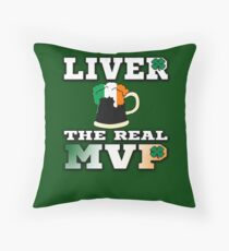 Liver the Real MVP Throw Pillow