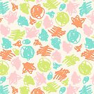 simple color sketchy pattern by Dinkoobraz
