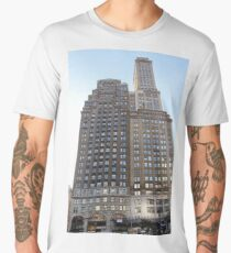 #famous #place, #international #landmark, #Apple Store, New York City, USA, american culture, architecture, city, skyscraper, office, modern, sky, business, cityscape, tower Men's Premium T-Shirt