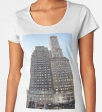 #famous #place, #international #landmark, #Apple Store, New York City, USA, american culture, architecture, city, skyscraper, office, modern, sky, business, cityscape, tower Women's Premium T-Shirt