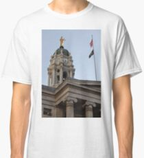 #famous #place, #international #landmark, Bunker Hill Monument, Dock Square, USA, #american culture, statue, dome, spire, architecture Classic T-Shirt
