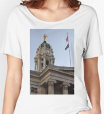 #famous #place, #international #landmark, Bunker Hill Monument, Dock Square, USA, #american culture, statue, dome, spire, architecture Women's Relaxed Fit T-Shirt