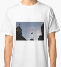 #flag, architecture, #patriotism, city, outdoors, #sky, #sculpture, statue, #government Classic T-Shirt