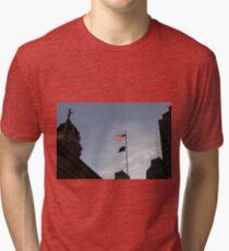 #flag, architecture, #patriotism, city, outdoors, #sky, #sculpture, statue, #government Tri-blend T-Shirt
