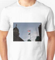 #flag, architecture, #patriotism, city, outdoors, #sky, #sculpture, statue, #government Unisex T-Shirt