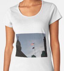 #flag, architecture, #patriotism, city, outdoors, #sky, #sculpture, statue, #government Women's Premium T-Shirt