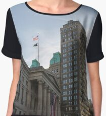 #architecture, #city, outdoors, office, #sky, #skyscraper, business, finance, #tower Chiffon Top