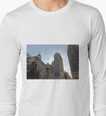 #architecture, #city, outdoors, office, #sky, #skyscraper, business, finance, #tower Long Sleeve T-Shirt