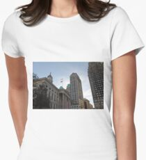 #architecture, #city, outdoors, office, #sky, #skyscraper, business, finance, #tower Women's Fitted T-Shirt