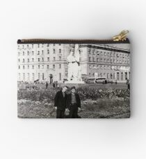 #Norilsk, #Norillag, black and white, #history, #people, group, adult, street, built structure, monochrome, #photography, residential building Zipper Pouch