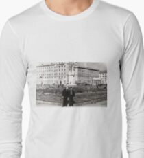 #Norilsk, #Norillag, black and white, #history, #people, group, adult, street, built structure, monochrome, #photography, residential building Long Sleeve T-Shirt