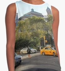#car, #street, #city, #road, #travel, traffic, architecture, outdoors, modern, town Contrast Tank
