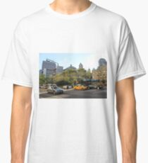 #car, #street, #city, #road, #travel, traffic, architecture, outdoors, modern, town Classic T-Shirt