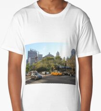 #car, #street, #city, #road, #travel, traffic, architecture, outdoors, modern, town Long T-Shirt