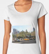 #car, #street, #city, #road, #travel, traffic, architecture, outdoors, modern, town Women's Premium T-Shirt