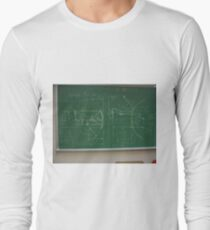 #Classroom, #Physics, #Mathematics, #education, writing, #handwriting, formula, algebra, learning, studying, university Long Sleeve T-Shirt