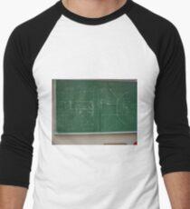 #Classroom, #Physics, #Mathematics, #education, writing, #handwriting, formula, algebra, learning, studying, university Men's Baseball ¾ T-Shirt