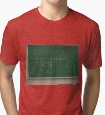 #Classroom, #Physics, #Mathematics, #education, writing, #handwriting, formula, algebra, learning, studying, university Tri-blend T-Shirt