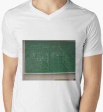 #Classroom, #Physics, #Mathematics, #education, writing, #handwriting, formula, algebra, learning, studying, university Men's V-Neck T-Shirt