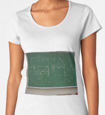 #Classroom, #Physics, #Mathematics, #education, writing, #handwriting, formula, algebra, learning, studying, university Women's Premium T-Shirt