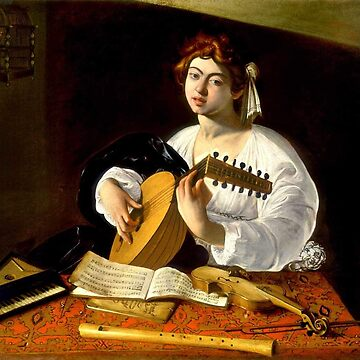 Michelangelo da Caravaggio - The Lute Player by Thornepalmer