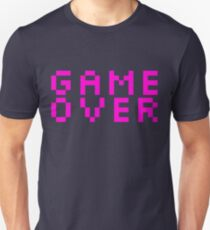 GAME OVER - Pink Retro Video Game Unisex T-Shirt