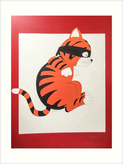 Tiger the Ninja kitty by maiboo