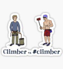 Climber vs #climber Sticker