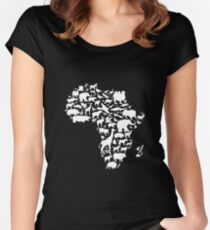 Animals of Africa Women's Fitted Scoop T-Shirt