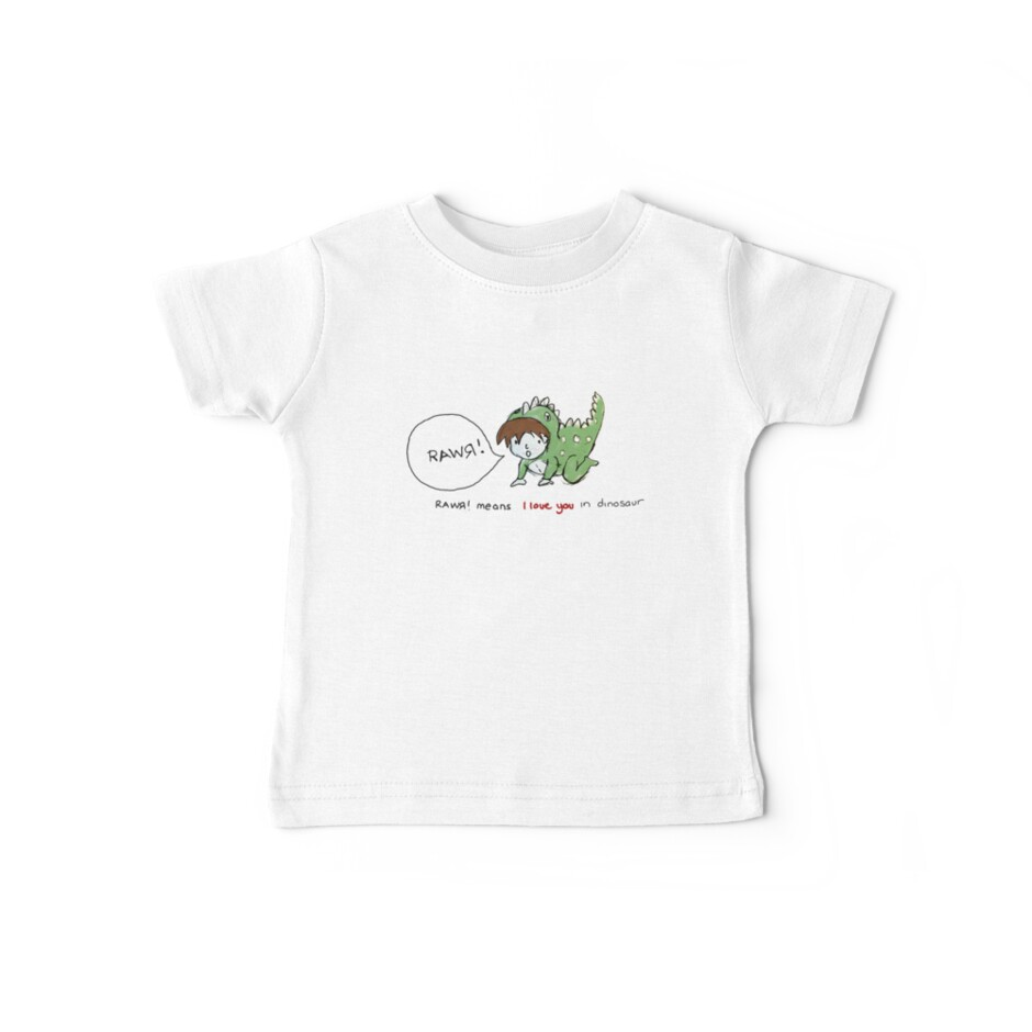 RAWR! it means i love you in dinosaur by maiboo