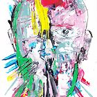 male portrait face abstract impressionism by Crazy Banana