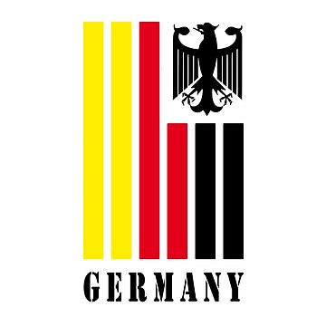 Germany design in national colors with Bundesadler by Rocky2018