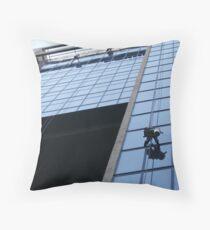 washing windows Throw Pillow
