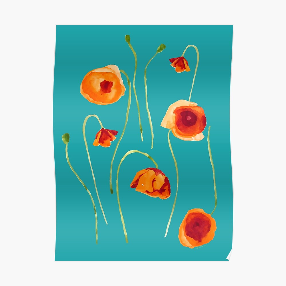 Field of Poppies Poster