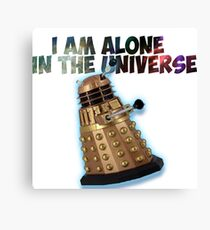 I am alone in the Universe  Canvas Print