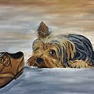 Yorkshire Terrier - Naughty Dog by EuniceWilkie