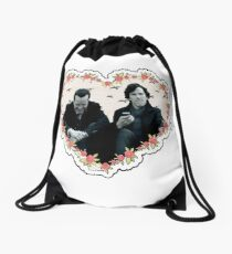 Hearted Sheriarty Drawstring Bag
