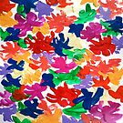Abstract color flowers painting  by LoraSi