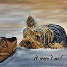 Yorkshire Terrier - It Wasn't Me! by EuniceWilkie
