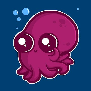 Adorable Baby Squid by realmatdesign