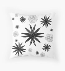 Pointy Flowers Throw Pillow