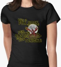 4d5a4d3b0 Cajun Crawfish Louisiana Full Moon Humor Women's Fitted T-Shirt