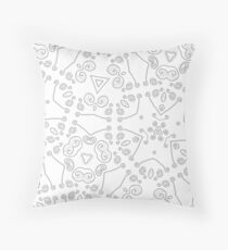 Swirls 3 Throw Pillow