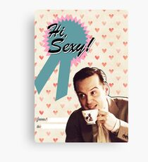 Moriarty Valentine's Day Card Canvas Print